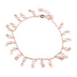 ELANZA Simulated Diamond Bracelet (Size 8 with Extender) in Rose Gold Overlay Sterling Silver 3.00 C