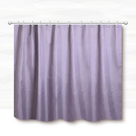 Grey Colour Waterproof Shower Curtain with 12 Hooks (180x180cm)