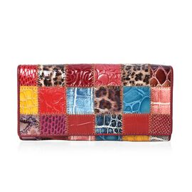 One Time Close Out Deal Mutli Colour Wallet (Size 18.5x3x9 Cm) - Animal
