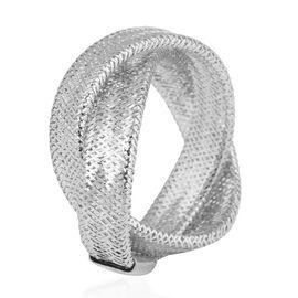 9K White Gold Stretchable Ring (Size Medium) (Size M to P)