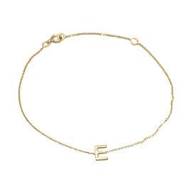 9K Yellow Gold  Mini Initial Bracelet (Size 7.25) ,  Gold Wt. 0.40 Gms