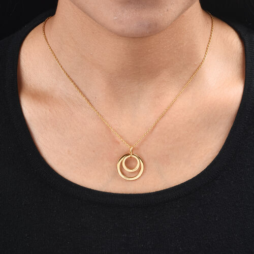 Personalise Engraved Two Disc Necklace, Size 18 Inch