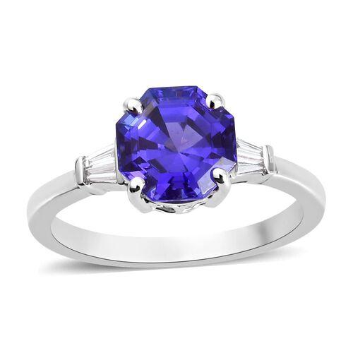 RHAPSODY AAAA Tanzanite and Diamond (VS/E-F) Ring 2.70 Ct, Platinum wt. 5.00 Gms