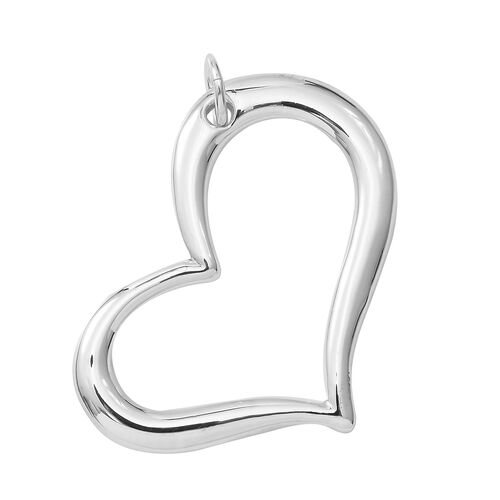 Limited Available- Designer Inspired- Sterling Silver Heart Pendant, Silver wt 5.05 Gms.
