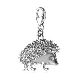 Platinum Overlay Sterling Silver Hedgehog Charm, Silver wt 6.00 Gms.