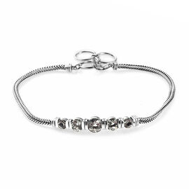 Prasiolite Bracelet (Size 8 with Extender) in Sterling Silver 1.75 Ct, Silver wt 6.75 Gms