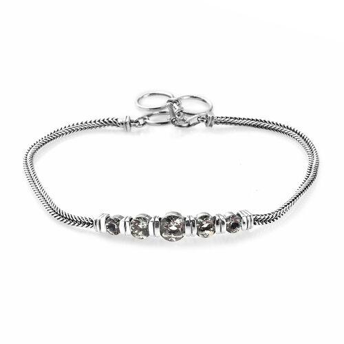 Prasiolite Bracelet (Size 8 with Extender) in Sterling Silver 1.75 Ct, Silver wt 6.75 Gms