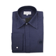 William Hunt Saville Row Forward Point Collar Dark Blue and White Polka Dot Shirt Size 17