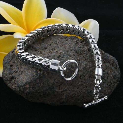 Royal Bali Collection Sterling Silver Borobudur Bracelet (Size 8), Silver wt 48.60 Gms.