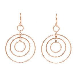 One Time Close Out Deal - Rose Gold Overlay Sterling Silver Chandelier Earring