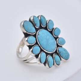 Santa Fe Collection - Turquoise Ring in Sterling Silver 6.000 Ct., Silver Wt. 5.00 Gms
