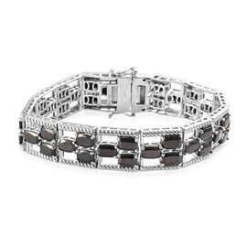 14 Carat Elite Shungite Tennis Bracelet in Platinum Plated Sterling Silver 7 Inch