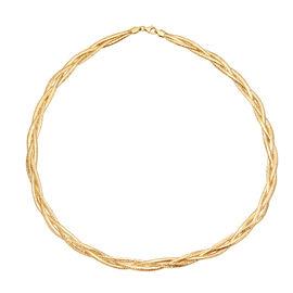 9K Yellow Gold Flat Curb  Bracelet (Size 7.5),  Gold Wt. 1.30 Gms