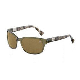 DAVIDOFF Unisex Grey Green Square Sunglasses with Brown Lenses