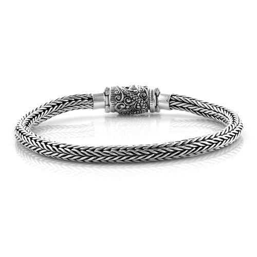 Bali Legacy Collection Sterling Silver Tulang Naga Bracelet (Size 7.5), Silver wt 28.93 Gms.