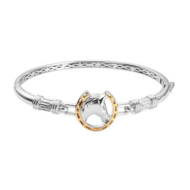 Bangle (Size 6.5) with Clasp in Two Tone