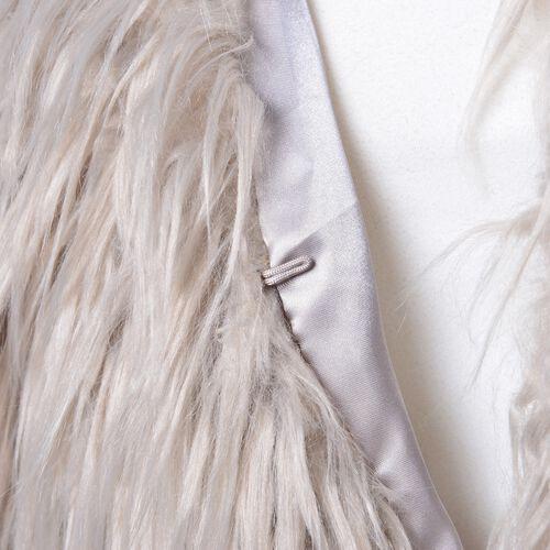 Designer Inspired Super Soft Grey Colour Faux Fur Vest (Size 70X52 Cm)