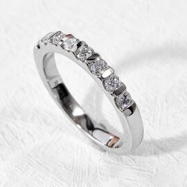 RHAPSODY 950 Platinum IGI Certified Natural Diamond (VS/E-F) Eternity Band Ring 0.50 Ct.
