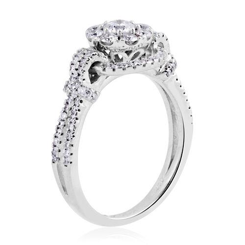 New York Close Out 14K White Gold Diamond (Rnd 0.25 Ct) (I1-I2 /G-H) Ring 1.00 Ct,
