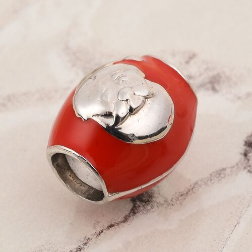 Charms De Memoire - Platinum Overlay Sterling Silver Enamelled Charm