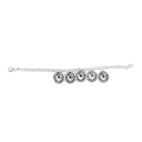 Sterling Silver Bracelet (Size 7.5) with Charms Silver wt 10.99 Gms.