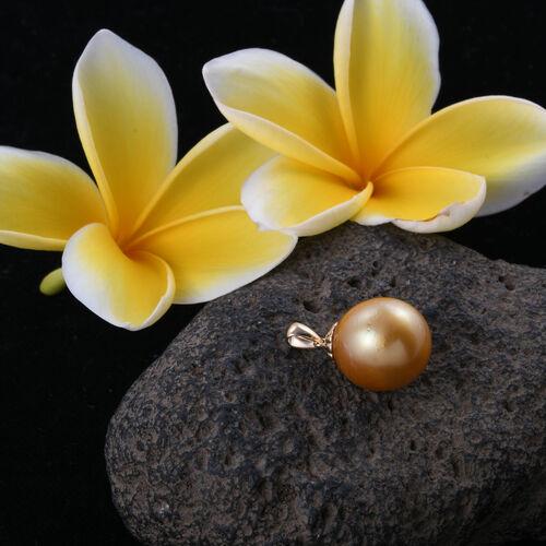 (Option-1) ILIANA 18K Yellow Gold South Sea Golden Pearl Pendant