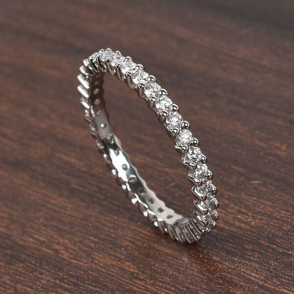 RHAPSODY 950 Platinum IGI Certified Diamond (VS/E-F) Full Eternity Band Ring 1.00 Ct, Platinum wt. 3