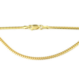 Vicenza Collection 14K Gold Overlay Sterling Silver Bombe Chain (Size 20), Silver wt 5.76 Gms