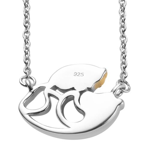 Platinum and Yellow Gold Overlay Sterling Silver Necklace (Size 18)