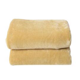 Serenity Night - Golden Colour Supersoft Luxury Blanket (Size 150x200cm)