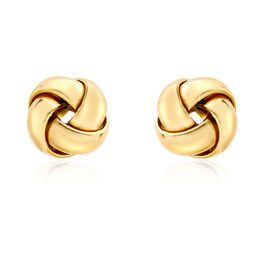 9K Yellow Gold Knot Stud Earrings (with Push Back)