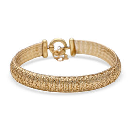 Made in Italy- 9K Yellow Gold Domed Omega Bracelet (Size 7.5 with 1 inch Extender). Gold Wt 4.84 Gms