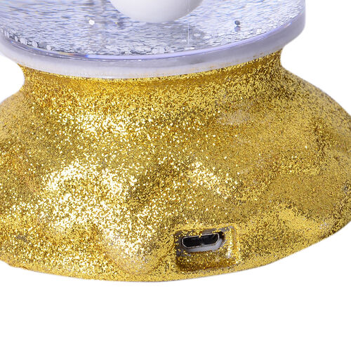 LED Glitter Flameless Candle with Moving Sprinkle Pattern (Size 25.5x8.5x8.5 Cm)