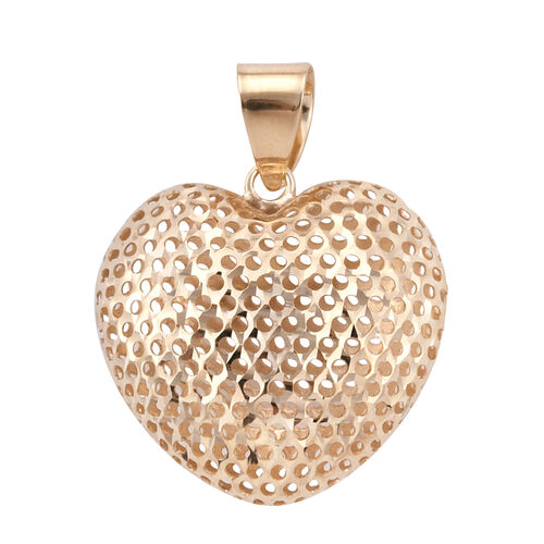 Royal Bali Collection 9K Yellow Gold Heart Pendant