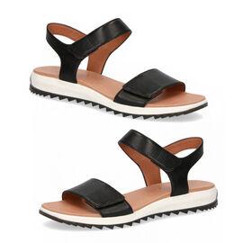 CAPRICE Women Open Toe Flat Sandal  Black Nappa