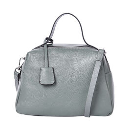 Sencillez 100% Genuine Leather Convertible Bag in Green