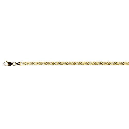 Italian Made-14K Gold Overlay Sterling Silver Bismark Necklace (Size 20), Silver wt 7.03 Gms.