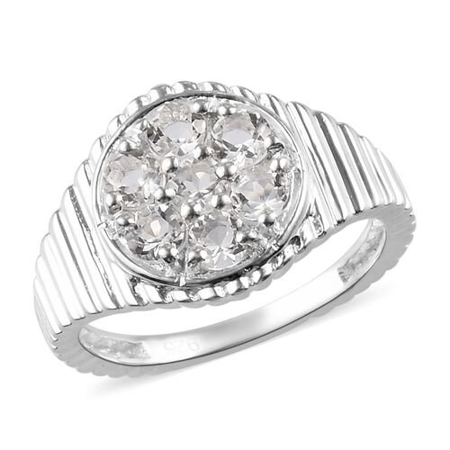 0.66 Ct Petalite Cluster Ring in Sterling Silver