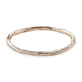 Royal Bali Collection 9K Yellow Gold Diamond Cut Bangle (Size 7.5), Gold wt 8.21 Gms
