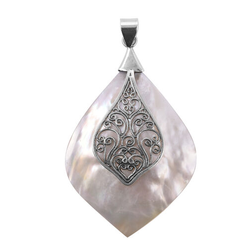 Royal Bali Collection - Mother of Pearl Pendant in Sterling Silver