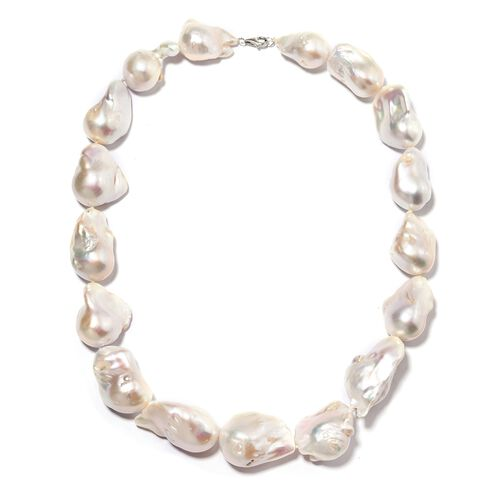 RHAPSODY 950 Platinum Extremely Rare AAAAA Organic Baroque Freshwater Pearl Necklace (Size 20)