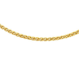 9K Yellow Gold Spiga Chain (Size 18), Gold wt 1.70 Gms