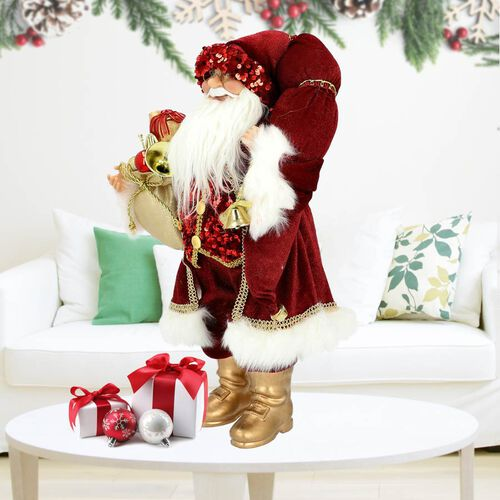 Christmas Decoration - Santa (SIze 45cm) - Red