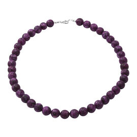 Super Find - Sugilite Beads Necklace (Size 18) in Sterling Silver 309.00 Ct.