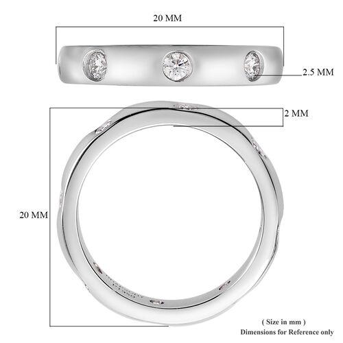 RHAPSODY 950 Platinum IGI Certified Diamond (VS/E-F) Band Ring 0.50 Ct, Platinum wt 5.73 Gms