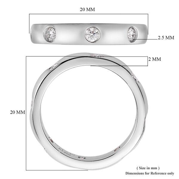 RHAPSODY 950 Platinum IGI Certified Diamond (VS/E-F) Band Ring 0.50 Ct, Platinum wt 6.09 Gms