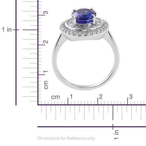 RHAPSODY 950 Platinum AAAA Tanzanite (Ovl 2.00 Ct), Diamond (VS/E-F) Ring 2.500 Ct.
