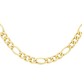 9K Yellow Gold Figaro Necklace (Size 20), Gold wt. 14.49 Gms