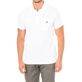 Karl Lagerfeld Mens Basic Polo Short Sleeve T-Shirt in White Colour Size S