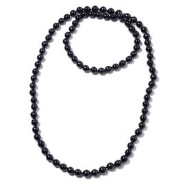 Black Howlite (Rnd) Bead Necklace (Size 46) 895.00 Ct.